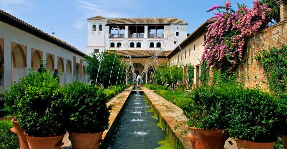 The Generalife Gardens of Granada - History